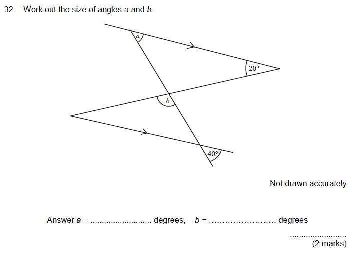 Aldenham School - 13 Plus Maths Sample Paper 2019 Question 34