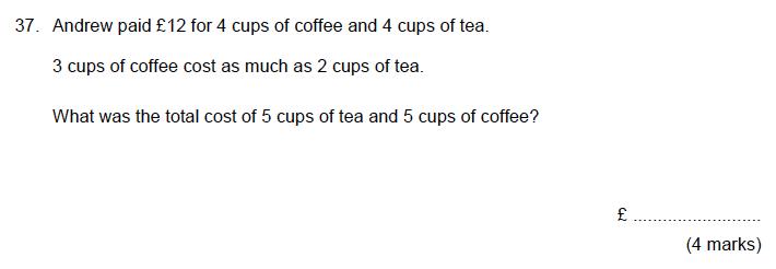 Aldenham School - 13 Plus Maths Sample Paper 2019 Question 39