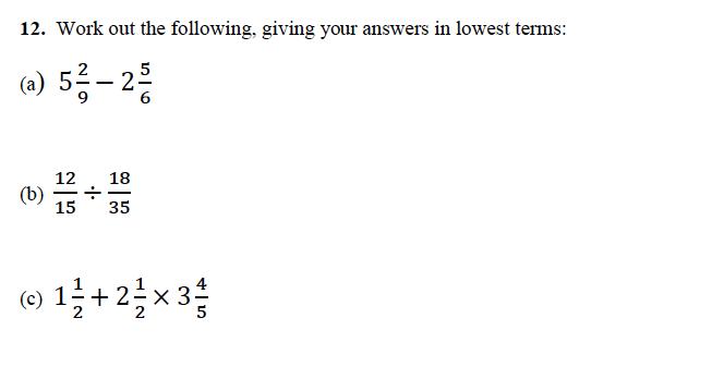 Alleyn's School - 13 Plus Maths Sample Examination Paper 1 Question 12