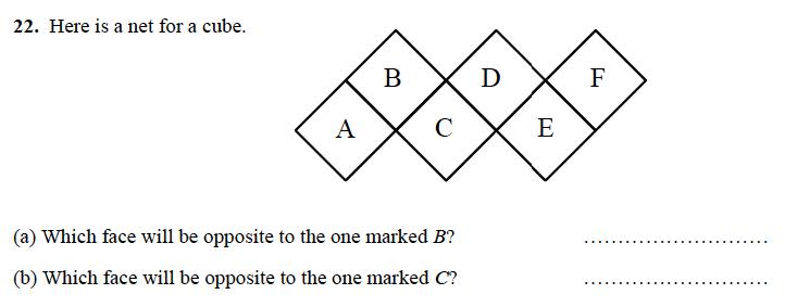 Alleyn's School - 13 Plus Maths Sample Examination Paper 1 Question 26