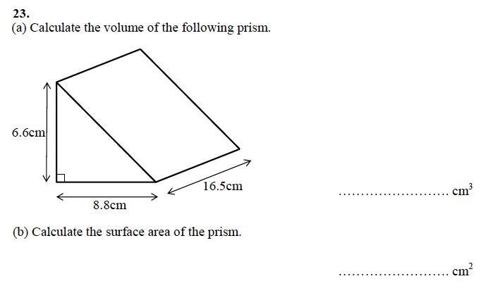 Alleyn's School - 13 Plus Maths Sample Examination Paper 1 Question 27