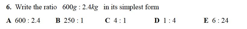 Alleyn's School - 13 Plus Maths Sample Examination Paper 2 Question 06