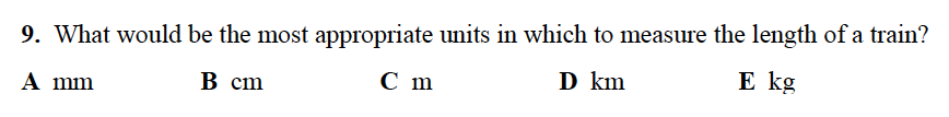 Alleyn's School - 13 Plus Maths Sample Examination Paper 2 Question 09