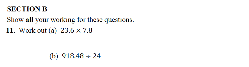 Alleyn's School - 13 Plus Maths Sample Examination Paper 2 Question 11
