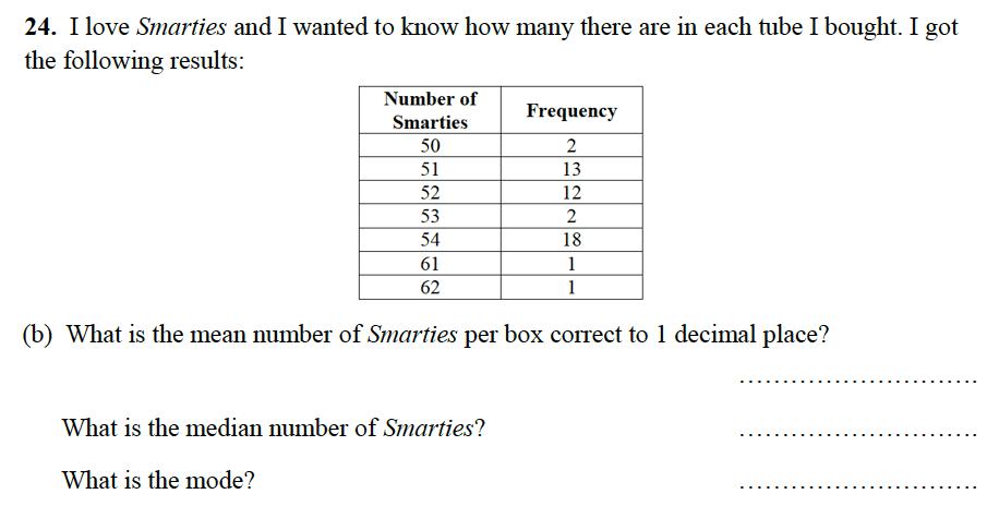 Alleyn's School - 13 Plus Maths Sample Examination Paper 2 Question 40