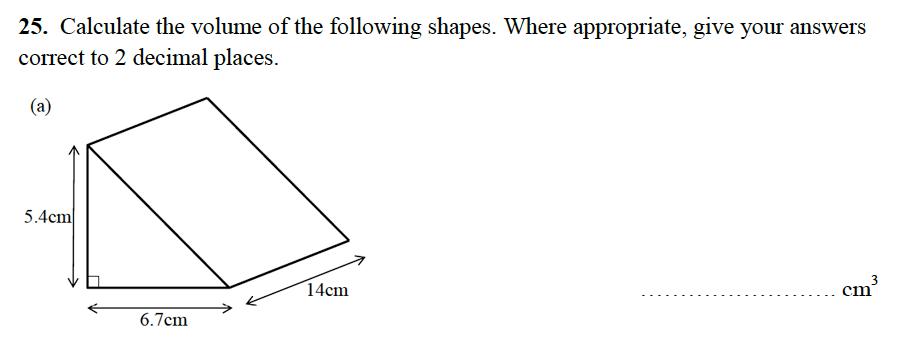 Alleyn's School - 13 Plus Maths Sample Examination Paper 2 Question 42
