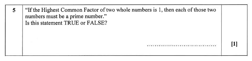 Christ's Hospital - Residential Assessment Year 9 Maths Question 05