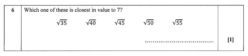 Christ's Hospital - Residential Assessment Year 9 Maths Question 06
