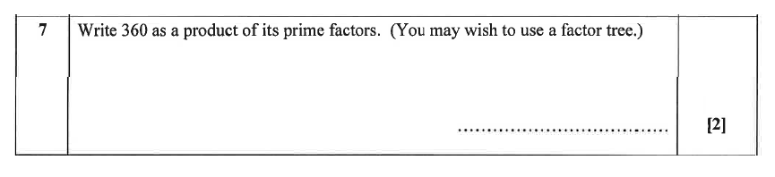 Christ's Hospital - Residential Assessment Year 9 Maths Question 07