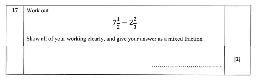 Christ's Hospital - Residential Assessment Year 9 Maths Question 18