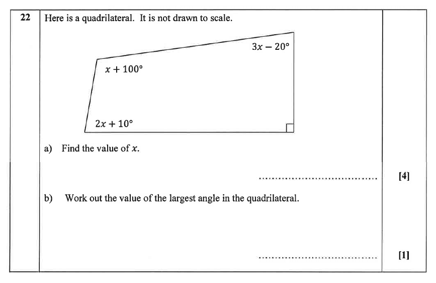 Christ's Hospital - Residential Assessment Year 9 Maths Question 23