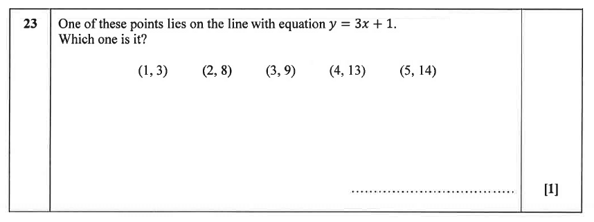 Christ's Hospital - Residential Assessment Year 9 Maths Question 24