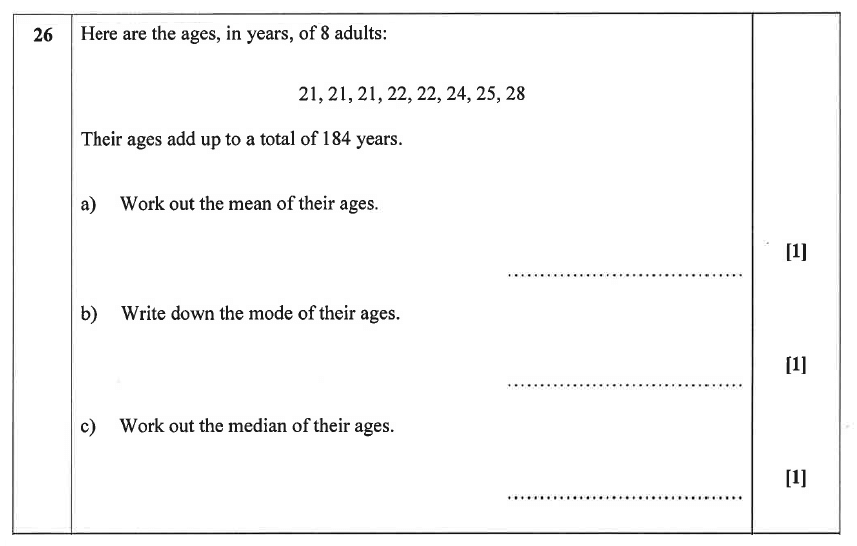 Christ's Hospital - Residential Assessment Year 9 Maths Question 27