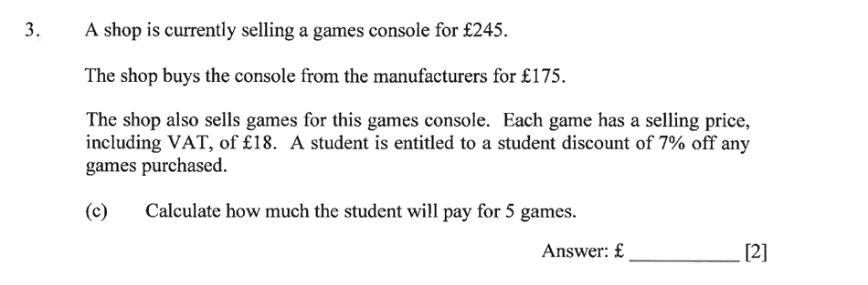 Dulwich College - Year 9 Maths Specimen Paper A Question 05