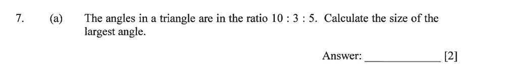 Dulwich College - Year 9 Maths Specimen Paper A Question 09