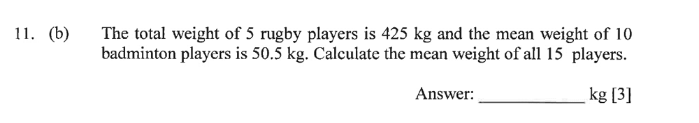 Dulwich College - Year 9 Maths Specimen Paper A Question 15