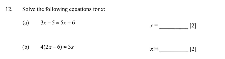 Dulwich College - Year 9 Maths Specimen Paper A Question 17