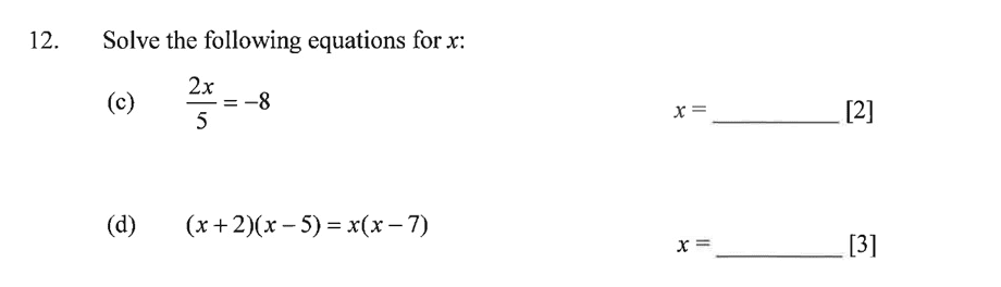 Dulwich College - Year 9 Maths Specimen Paper A Question 18