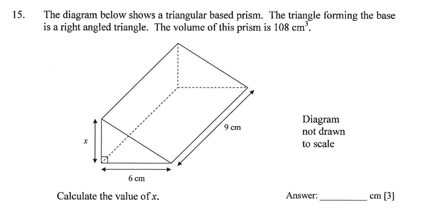 Dulwich College - Year 9 Maths Specimen Paper A Question 21