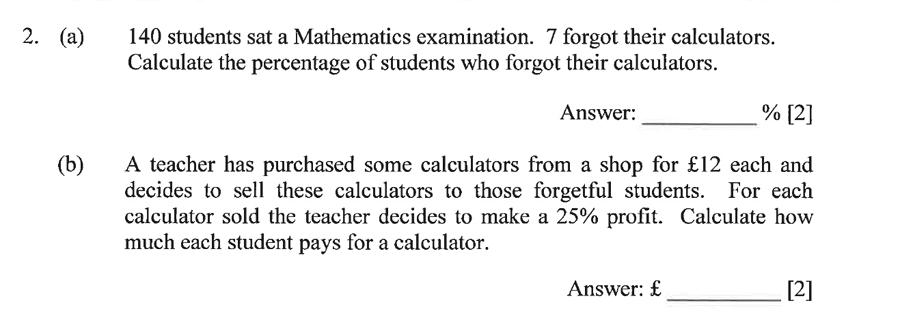 Dulwich College - Year 9 Maths Specimen Paper B Question 02