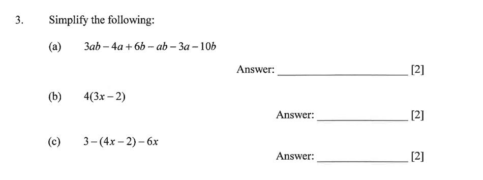 Dulwich College - Year 9 Maths Specimen Paper B Question 04