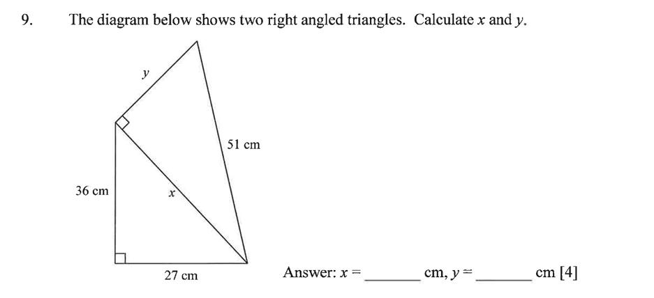 Dulwich College - Year 9 Maths Specimen Paper B Question 12