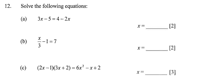 Dulwich College - Year 9 Maths Specimen Paper B Question 16