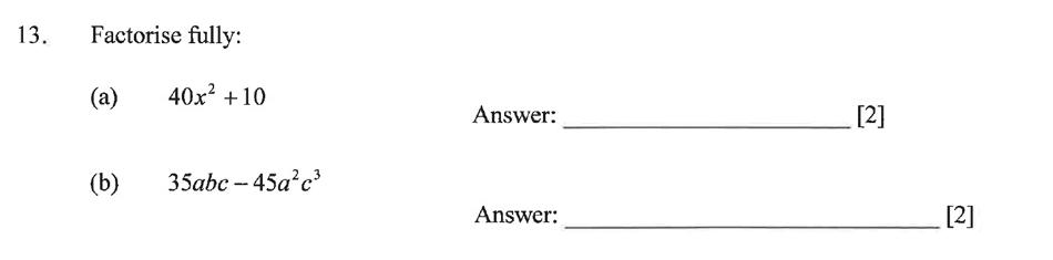 Dulwich College - Year 9 Maths Specimen Paper B Question 17