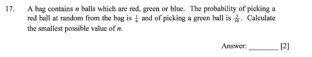Dulwich College - Year 9 Maths Specimen Paper B Question 21