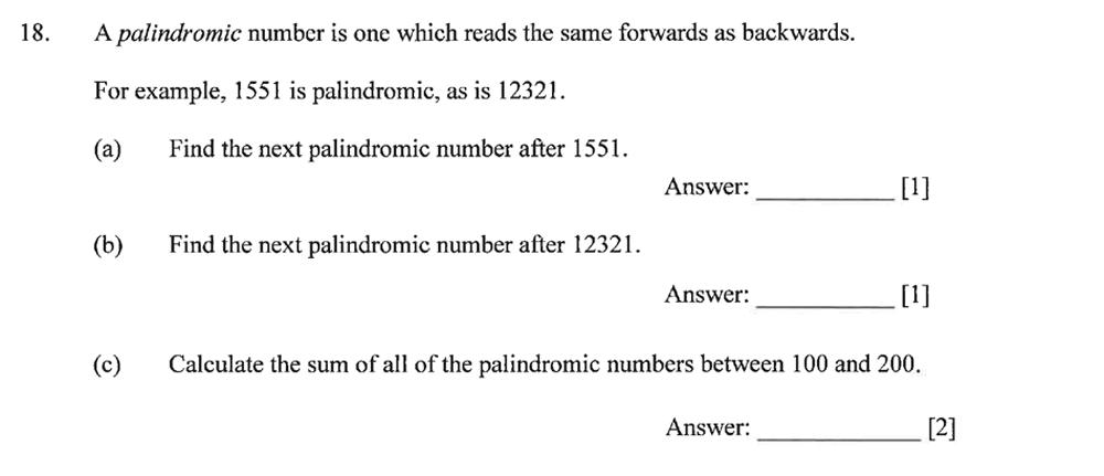 Dulwich College - Year 9 Maths Specimen Paper B Question 22