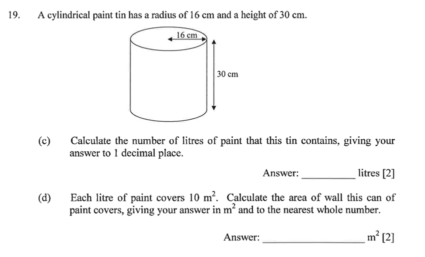 Dulwich College - Year 9 Maths Specimen Paper B Question 24
