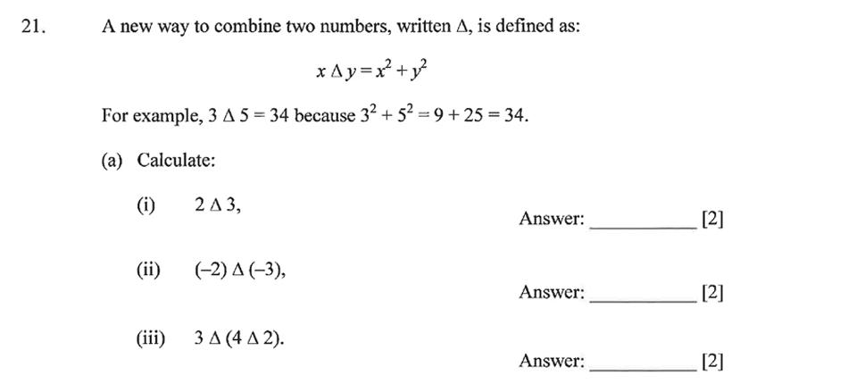 Dulwich College - Year 9 Maths Specimen Paper B Question 27