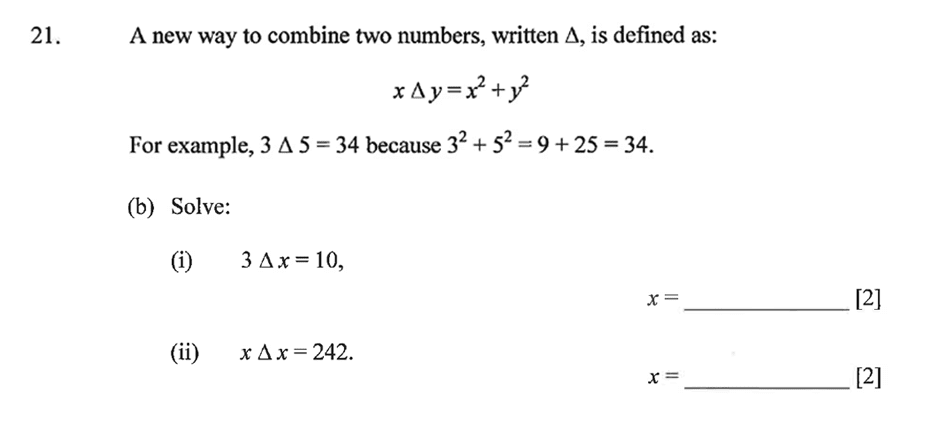 Dulwich College - Year 9 Maths Specimen Paper B Question 28