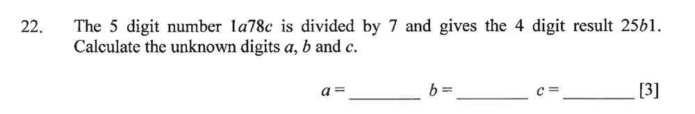 Dulwich College - Year 9 Maths Specimen Paper B Question 29