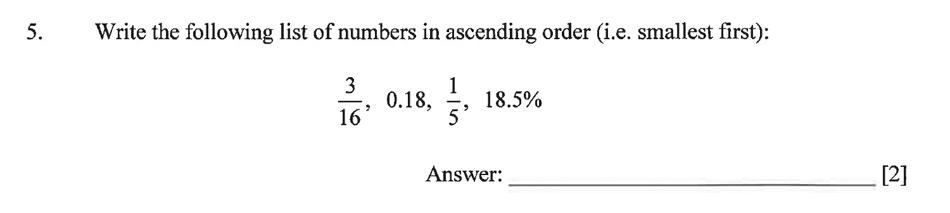 Dulwich College - Year 9 Maths Specimen Paper C Question 06