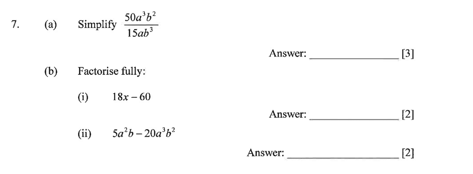 Dulwich College - Year 9 Maths Specimen Paper C Question 08