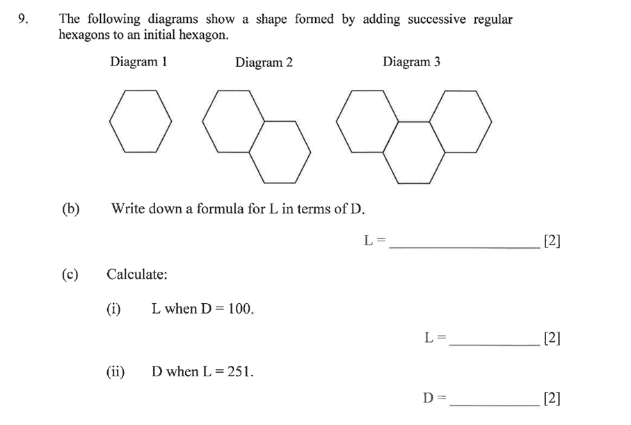 Dulwich College - Year 9 Maths Specimen Paper C Question 11