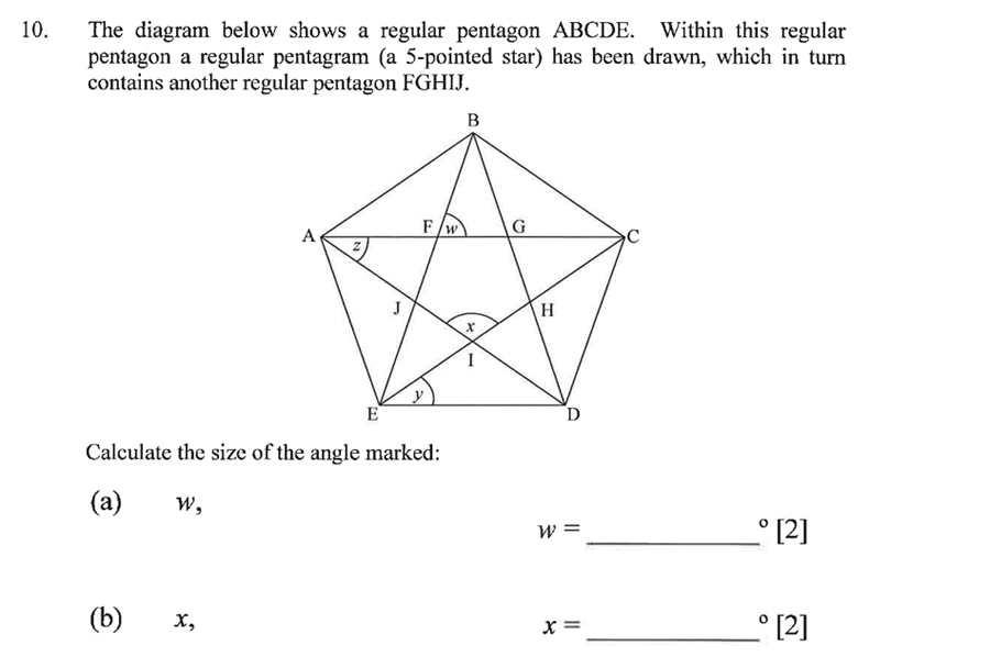 Dulwich College - Year 9 Maths Specimen Paper C Question 12