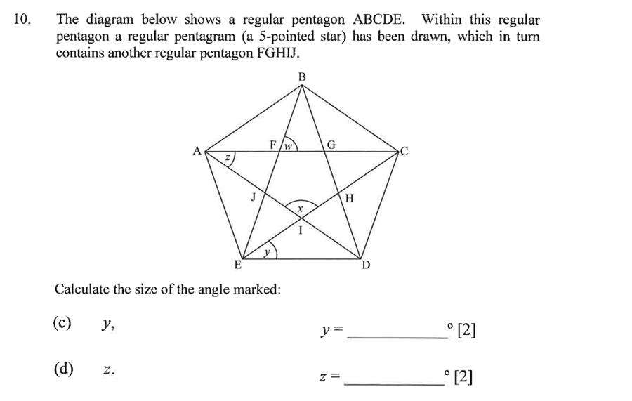 Dulwich College - Year 9 Maths Specimen Paper C Question 13
