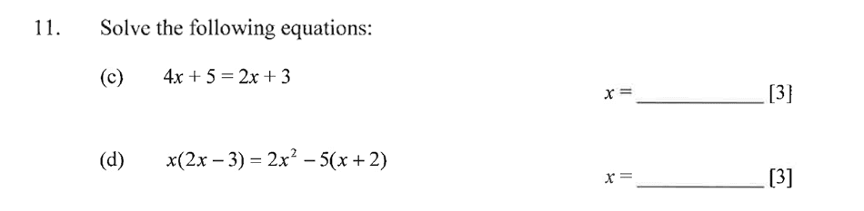 Dulwich College - Year 9 Maths Specimen Paper C Question 15