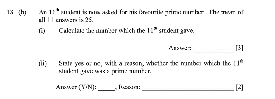 Dulwich College - Year 9 Maths Specimen Paper C Question 28