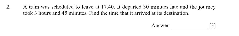 Dulwich College - Year 9 Maths Specimen Paper D Question 02