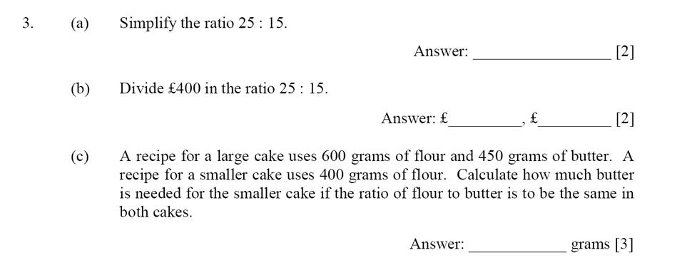 Dulwich College - Year 9 Maths Specimen Paper D Question 03