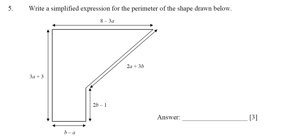 Dulwich College - Year 9 Maths Specimen Paper D Question 05