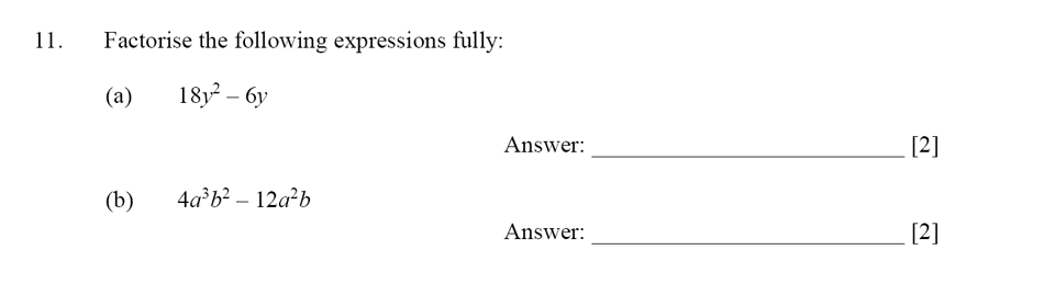 Dulwich College - Year 9 Maths Specimen Paper D Question 11