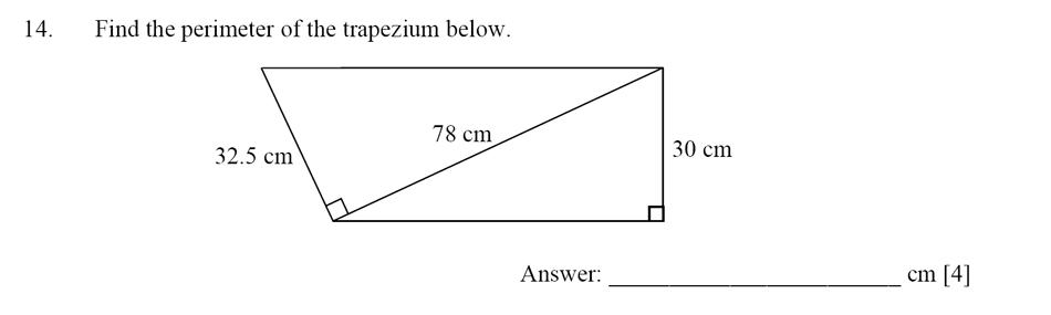 Dulwich College - Year 9 Maths Specimen Paper D Question 14