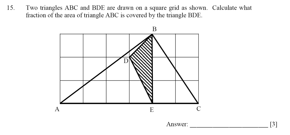 Dulwich College - Year 9 Maths Specimen Paper D Question 15