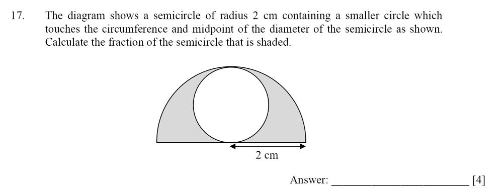 Dulwich College - Year 9 Maths Specimen Paper D Question 17
