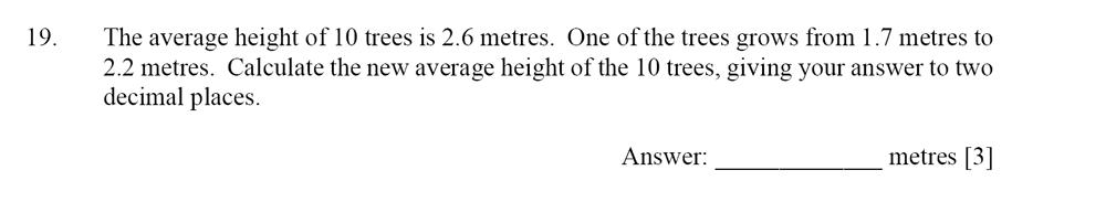 Dulwich College - Year 9 Maths Specimen Paper D Question 19