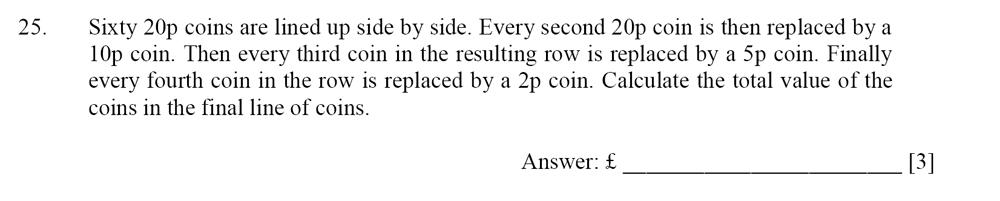 Dulwich College - Year 9 Maths Specimen Paper D Question 25